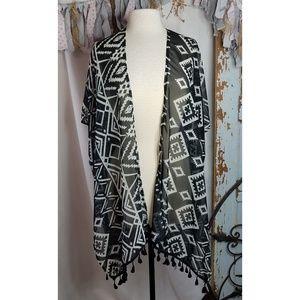Jackets & Blazers - Black and white kimono